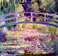 After Monet Water Lily Pond