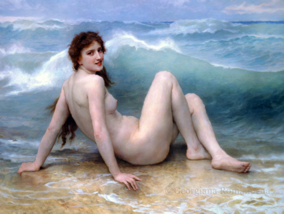 Girl In The Waves Impressionism